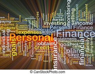 personale, ardendo, concetto, finanza, fondo