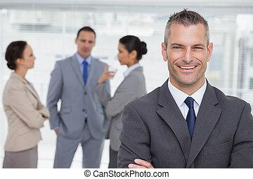 personale, proposta, direttore, fondo, sorridente