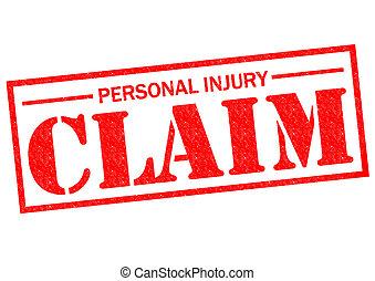 personale, reclamo, lesione