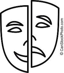 personalità, icona, contorno, disordine, stile