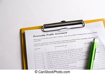 Personality Test or Assessment Form - Personality test or ...