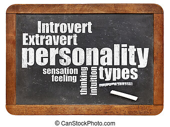 personality types on blackboard - personality types word ...