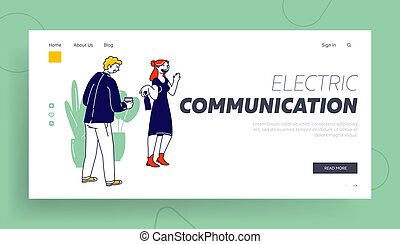Personality Types Psychological Person Profile Website Landing Page. Extrovert and Introvert Human Mental Differences. Individual Temperament of People Web Page Banner Cartoon Flat Vector Illustration