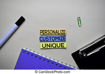 Personalize - Customize - Unique text on sticky notes with...