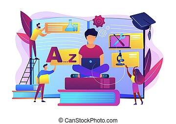 personalized, vecteur, apprentissage, illustration, concept