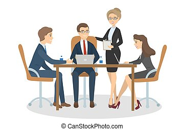 personas empresa, meeting.