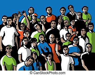 personas., grupo