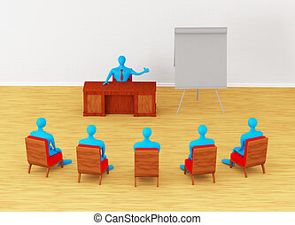 personas, grupo, reunión