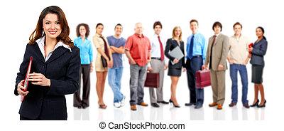 personas., mujer, grupo, empresa / negocio