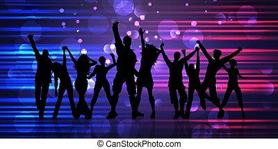 persone, 2605, astratto, silhouette, bandiera, festa