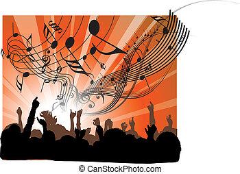 persone, a, il, concerto