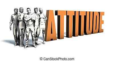 persone affari, atteggiamento, arte