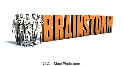 persone affari, brainstorm, arte
