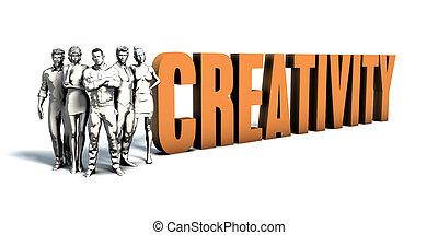 persone affari, creatività, arte
