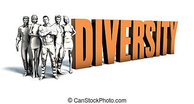 persone affari, diversità, arte