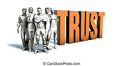 persone affari, fiducia, arte
