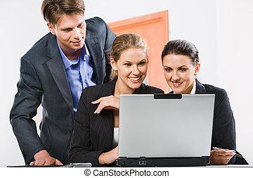 persone affari, in, ufficio