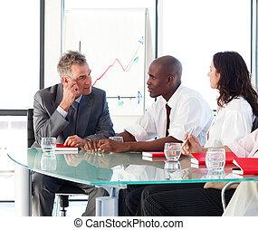 persone affari, interagire