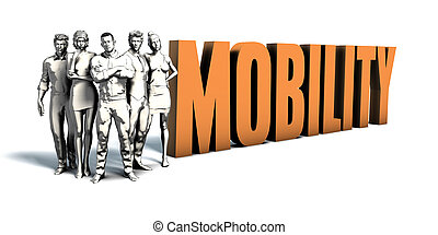 persone affari, mobilità, arte