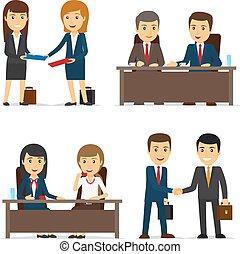 persone affari, riunione