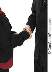 persone affari, stringere mano