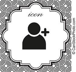 persone, aggiungere, vettore, fondo, geometrico, icona