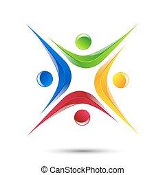 persone, astratto, elemento, disegno, logotipo, icona