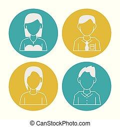 persone, avatar, icone