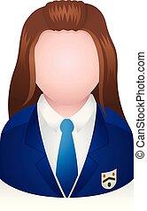 persone, -, avatar, studente, icone