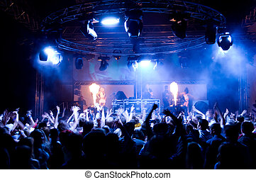 persone, ballo, a, il, concerto, anonimo, ragazze, su, il, palcoscenico