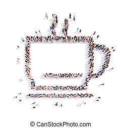 persone, coffee., forma, tazza