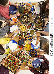 persone, consumo pizza