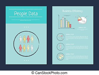 persone, dati, e, affari, vettore, illustrazione