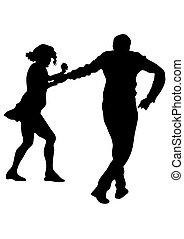 persone, di, sport, ballerini