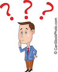 persone, domanda, affari, contrassegni