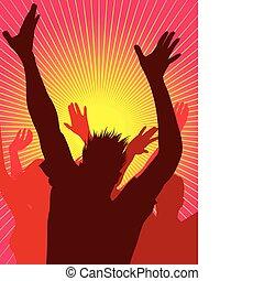 persone, festa, ballo