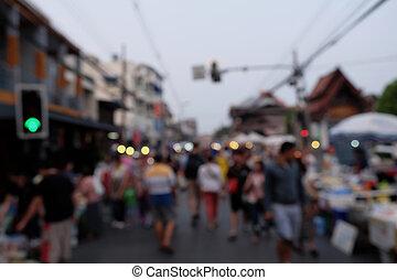 persone, festival, sfocato, strada, notte, festa, backgro, evento