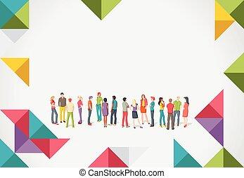 persone, giovane, gruppo