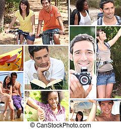 persone, giovane, vacanze