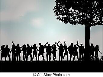 persone., gruppo