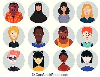 persone, icone, set