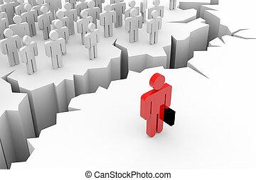persone, inequality., fesso, earth., condottiero, 3d