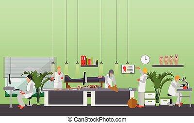 persone, lavoro, illustrazione, apparecchiatura, vettore, ...