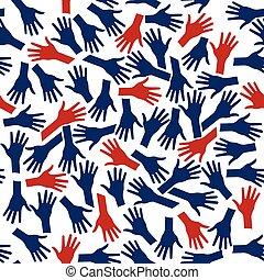 persone, logo., mani