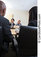 persone, riunione affari