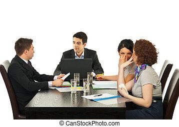 persone riunione, affari parlanti