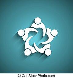 persone riunione, circle., affari
