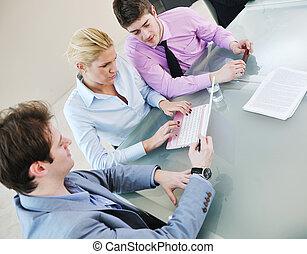 persone, riunione, gruppo, affari