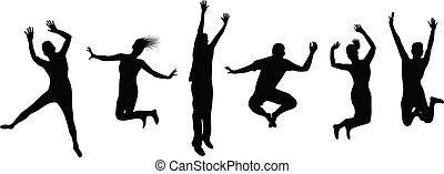 persone saltando