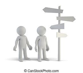 persone, -, scelta, piccolo, indicazione, 3d